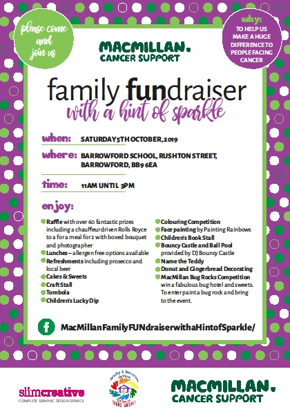 MacMillan Family FUNdraiser with a Hint of Sparkle