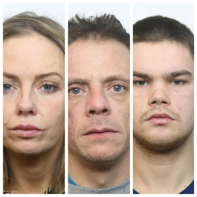 Natalie Hodson, Gareth Harrop and Darren Courtney were jailed for a total of 12 years