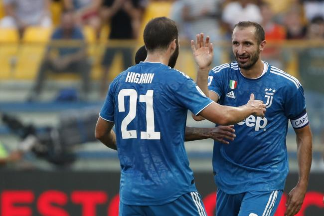 Giorgio Chiellini's first-half goal proved enough to give Juventus victory in their first Serie A match of the new season