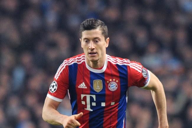 Bayern Munich's hat trick-scoring Robert Lewandowski