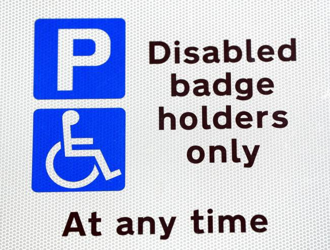People with hidden disabilities can apply for blue badge parking permits from today. Credit: Jonathan Brady/PA Wire.
