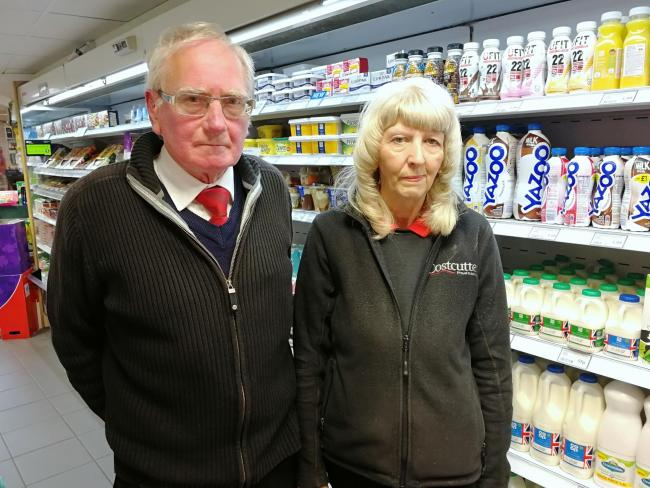 David and Margaret Brindle, owners of the Costcutter store on School Lane in Leyland