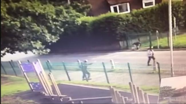 An appeal was put on by Highfield Primary School bosses to find the boys in the video as stones were seen being thrown at windows