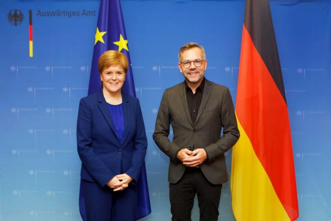Nicola Sturgeon meeting German minister for Europe Michael Roth