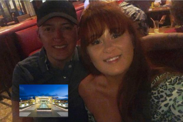 Dominic Sutton and Danielle Baker and their hotel in Lanzarote
