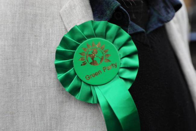 A Green Party rosette