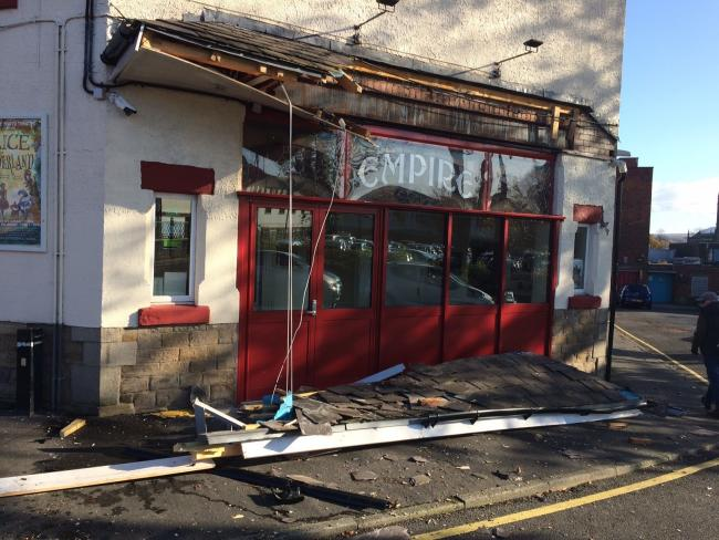Damage to the Chorley Little Theatre canopy