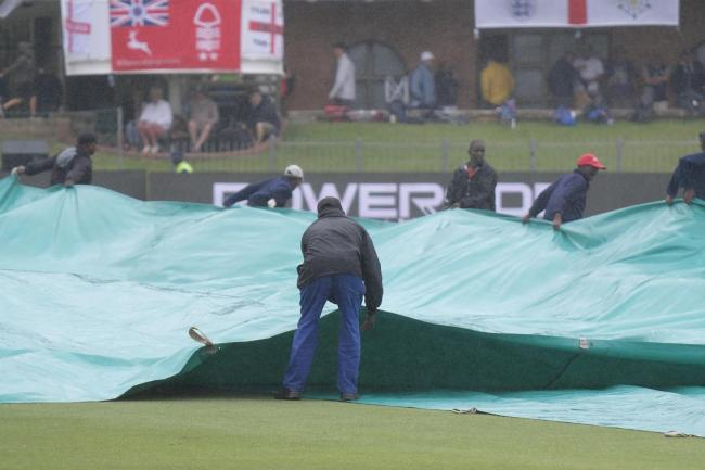 Rain delayed the start of the fourth Test