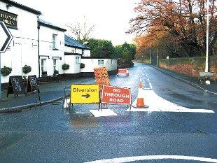 Dawber's Lane is closed in both directions