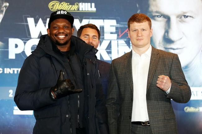 Dillian Whyte, left, and Alexander Povetkin are expected to fight this summer (Martin Rickett/PA)