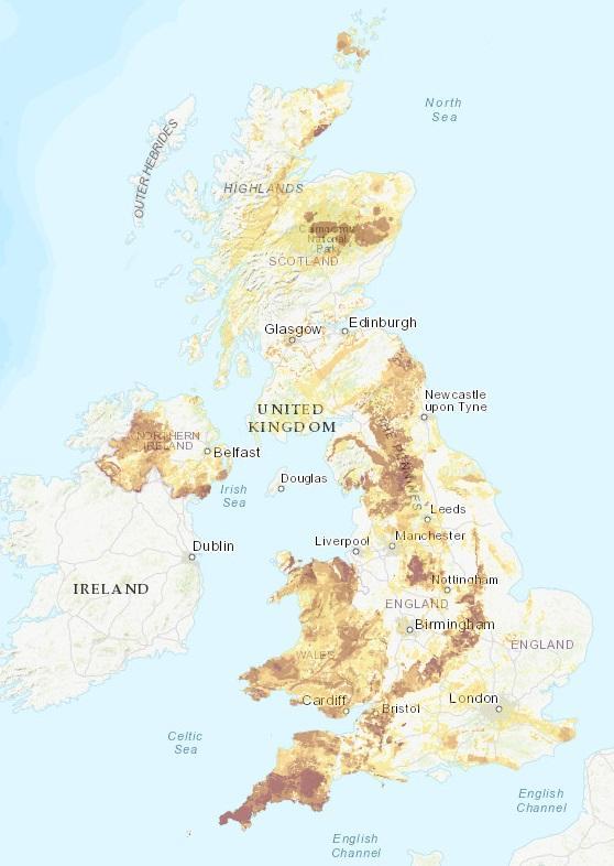 Uk Radon Map Hotspots For Cancerous Radioactive Gas Revealed Chorley Citizen
