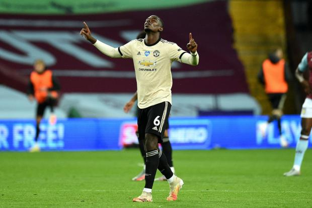 Paul Pogba scored his first goal of the season on Thursday night