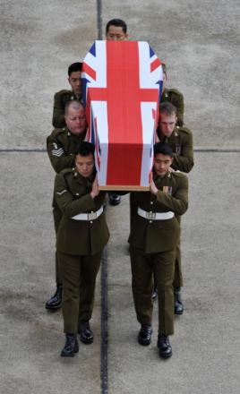 WO Markland's coffin returns to the UK