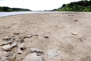 DRY SPELL: Rivington Reservoir's water level is significantly lower than usual