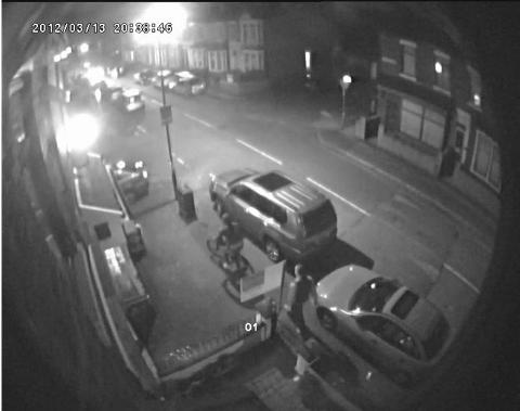 APPEAL: Police want to speak to the man seen walking here about the attack on the No3 Club, Primrose Bank Mill