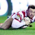 NATIONAL DEBUT: Josh Charnley in action