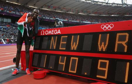 New World Record: David Rudisha of Kenya and his amazing 800m victory...