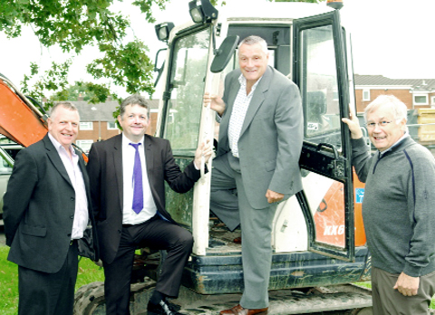 CCH's Richard Houghton, County Councillor Mark Perks, Adactus Group chief executive Paul Lees and Adactus Group chair Alan Cain