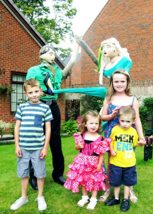 Dylan Carter, six, Lea Daniels, two, Harvey Hodgkinson, three and Kayla Mahoney, nine