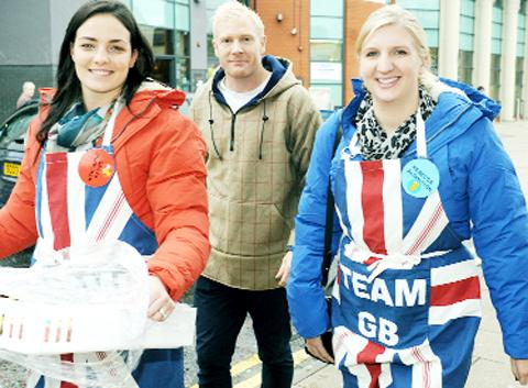 Kerri-Anne Payne, Iwan Thomas and Rebecca Adlington