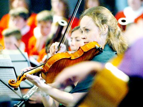 The Lancashire Sinfonietta performs at the Prince's Trust gala concert at Blackburn Cathedral