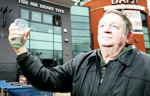 Chorley Citizen: Tommy Shorrock outside the Sir Henry Tate