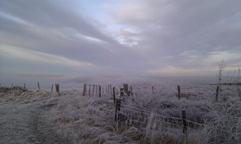 Lancashire Telegraph reader Mark Soloniewicz sent in this picture of freezing fog over Pickup Bank and Hoddlesden