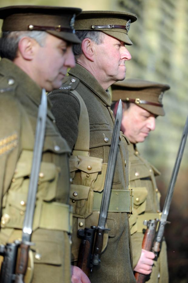 A parade took place to honour the Accrington Pals