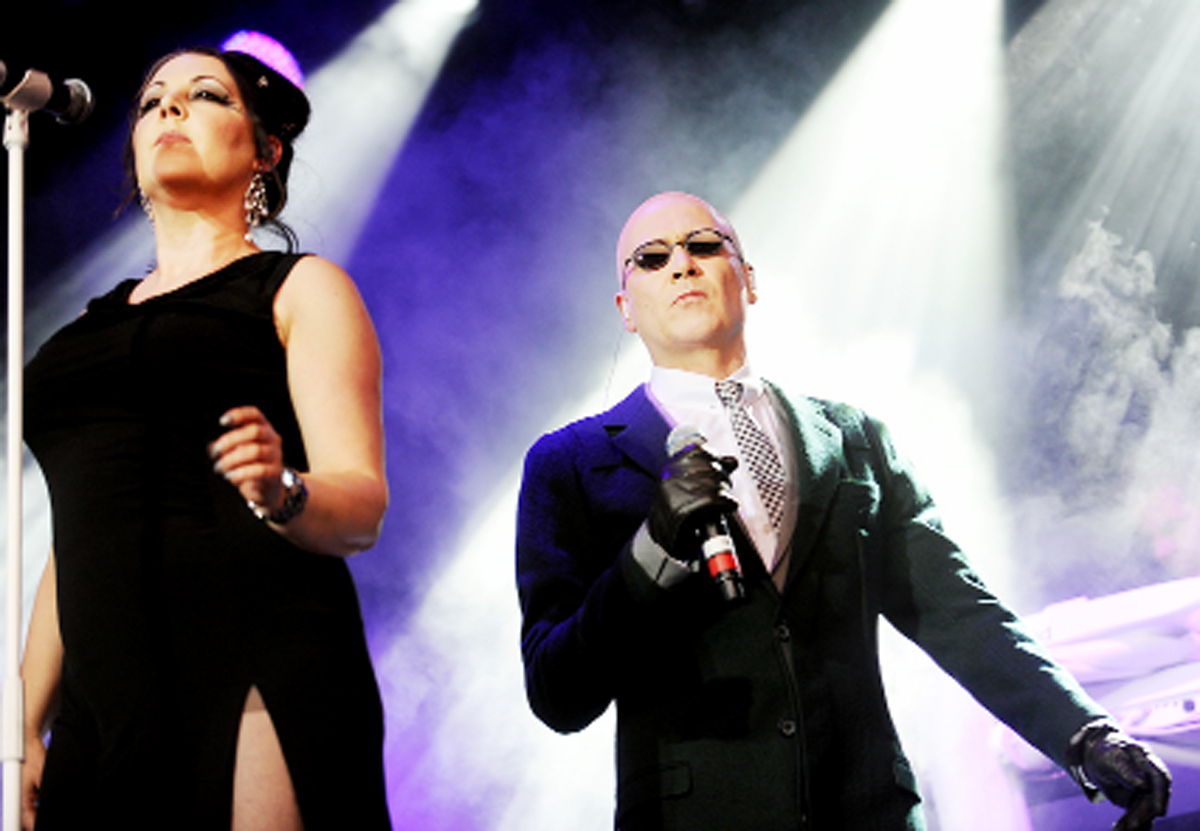 The Human League on stage