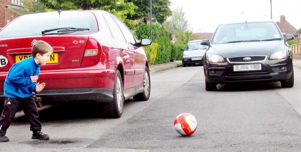 53 per cent of adults thought traffic was a barrier to children playing out where they lived