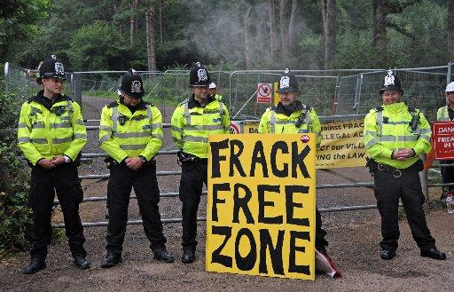 Anti-fracking protests at Cuadrilla site in Balcombe