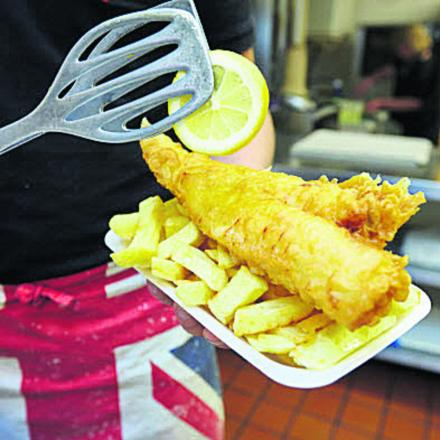Euxton chippy's taste of Norway