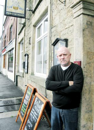 Landlord John Grainger is furious after cash collected by customers of the Prince of Wales for Derian House was stolen