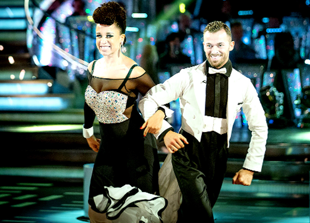 Natalie with dance partner Artem Chigvinstev