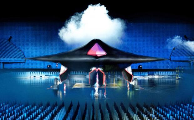 The intimidating outline of the Taranis stealth drone