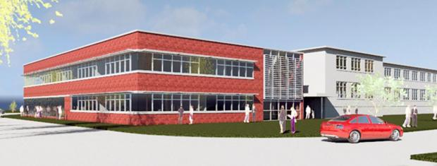 NEW BUILDING: An image of the engineering block