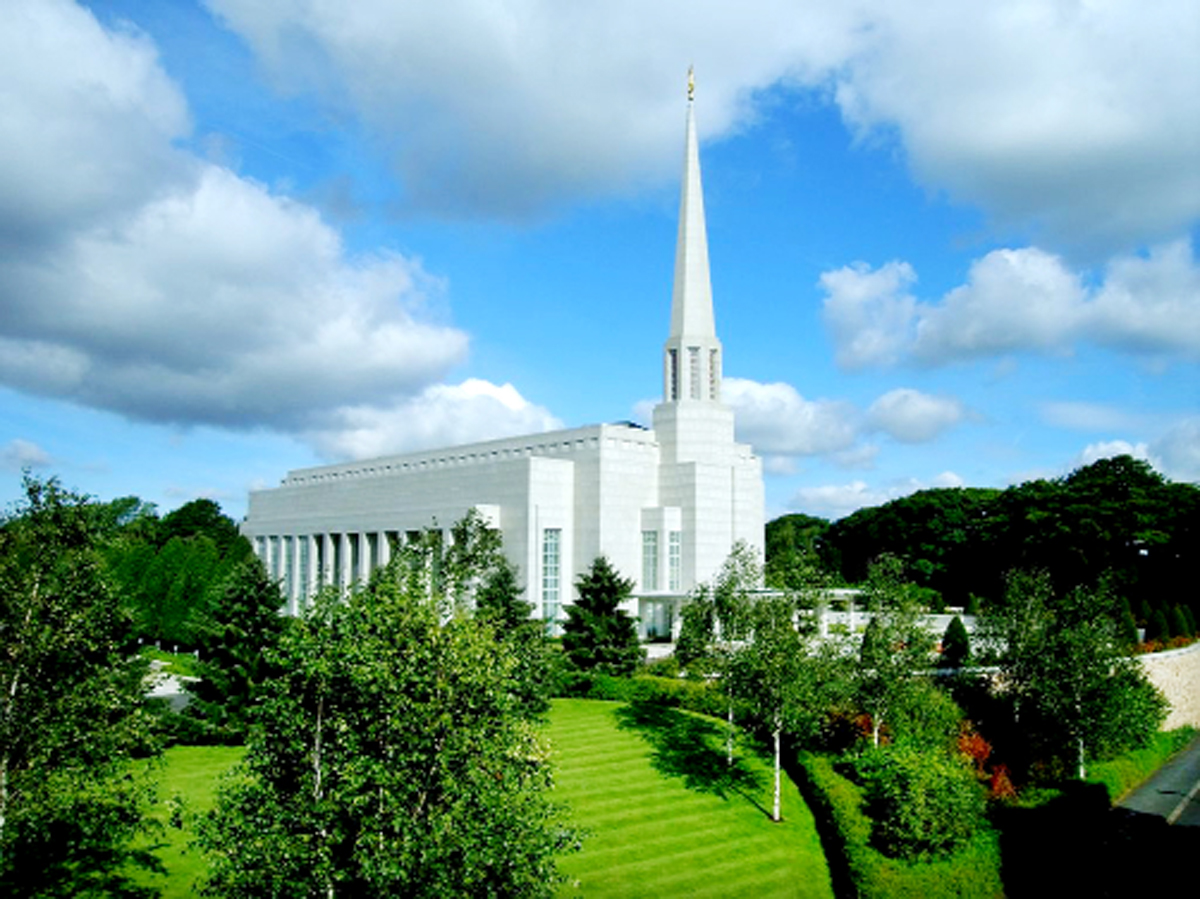 The Mormon Temple, Chorley, which belongs to the Church of Jesus Christ of Latter-Day Saints
