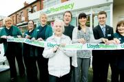RIBBON CUT: Ada Banks and the team from Lloyds Pharmacy, Coppull, at the opening
