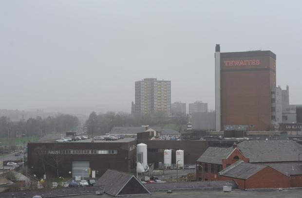 Chorley Citizen: Mist over Blackburn