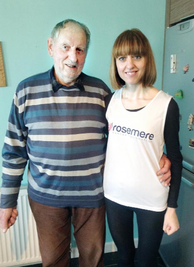 Chorley Citizen: Keen athlete Kirsty Corbridge and her father, James Laurie