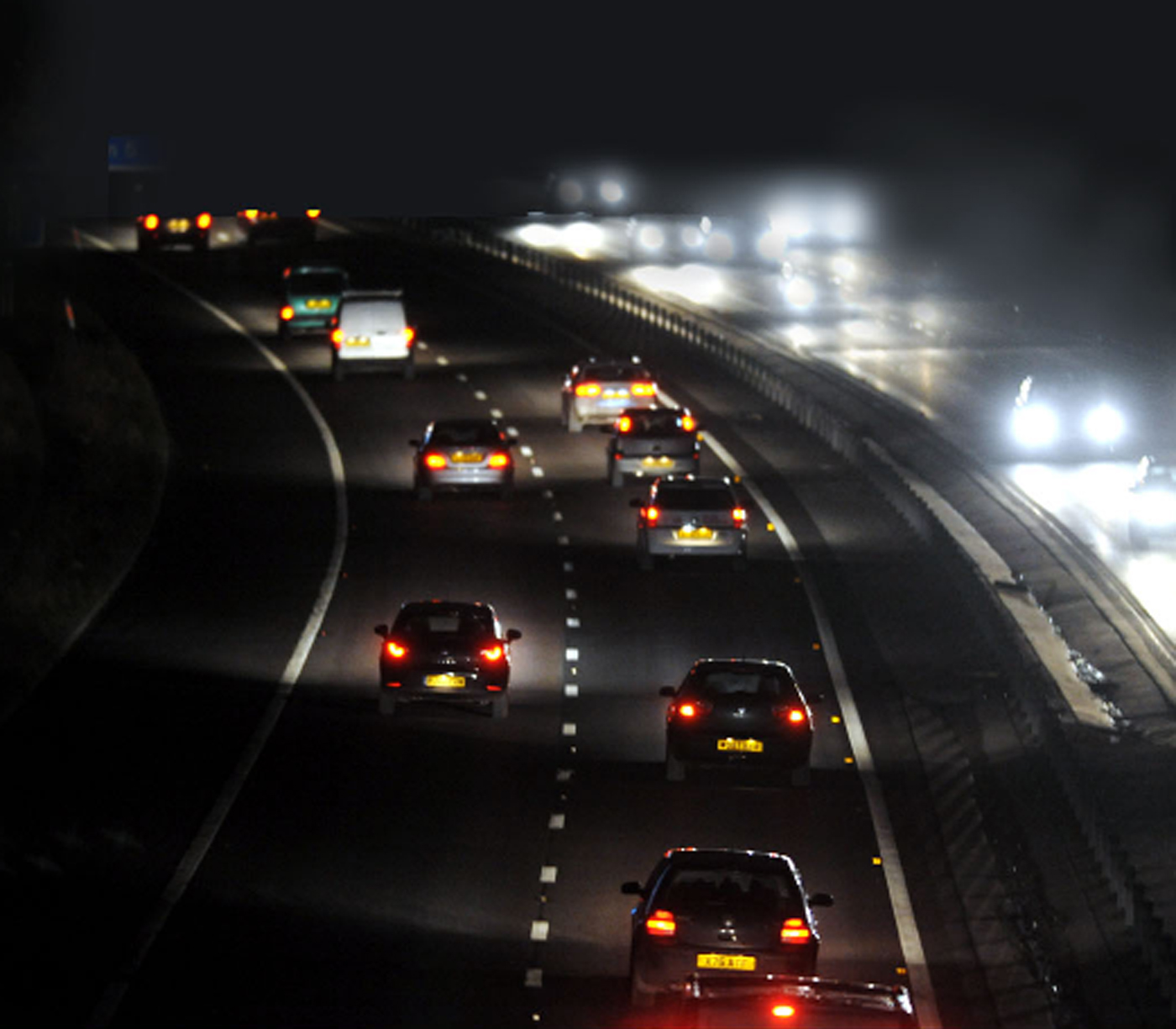 VIDEO: Pitch black M65 roundabout must be illuminated to avoid a potential tragedy