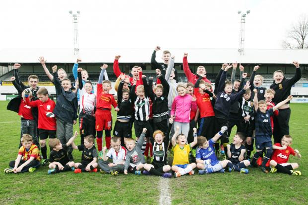 Soccer school trains Chorley Football Club's youngest fans