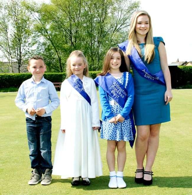 Royalty: Callum Shorrock, Sienna Stowe, Blythe Cordwell and Carnival Queen Caitlan Earnshaw