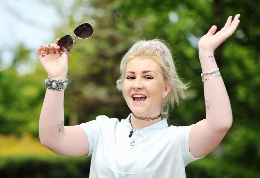 Chorley Citizen: Blackburn College student Roseanna Rainford, 19, is looking forward to the sunny weather