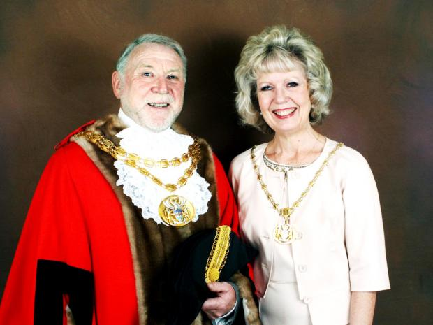 IN OFFICE: South Ribble Mayor and Mayoress  Councillor Graham and Karen Walton