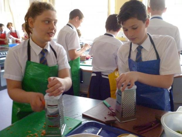 FOOD REVOLUTION DAY: Pupils at Albany take part in the world record attempt