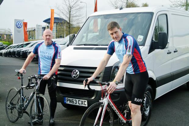 Cyclists' cross Channel ride in memory of brave wartime relative