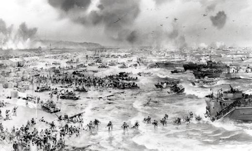 Chorley Citizen: The beach at Normandy on June 6, 1944 – a blur of action