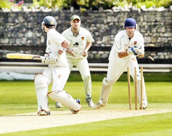 Captain and wicketkeeper Andy Holdsworth made a half-century