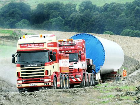 It's an uphill task as lorries wind thei